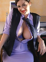 Lorna Morgan - dressed for the office